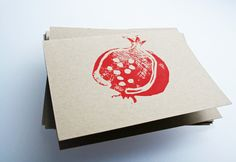 Pomegranate note cards ... are you kidding me? Love this @Amy Stone you are so talented!