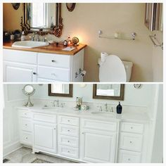 A bathroom for your  #transformationtuesday! This is a before and after in this #fearringtonnc home.  #horizonrenovations #bathroomremodel #bathroom #bathroomvanity #custom #customdesign #designandbuild #woodwork #woodworking #remodel #homerenovation #VSCO #VSCOcam #NorthCarolina #instagood #photooftheday #picoftheday #igers #instadaily #Nikon #igdaily #bestoftheday #refreshing #home #houzz #smallbusiness #woodwork #bathroomideas by horizonrenovationsllc Bathroom designs.
