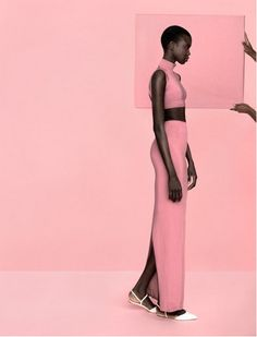 ebony + pink = perfection.