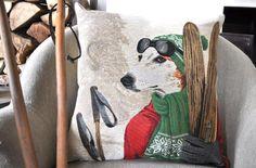 Coussin déco Mon Home décoration loft et chalet, disponible sur mon-home.com   #decoration #chalet #montagne #rustic #decor #ideas #chic #coussin #vintage