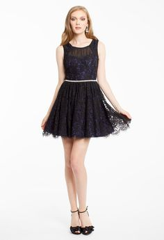 TWO TONE LACE PARTY DRESS #shortdress #homecoming #hoco15 #camillelavie #groupusa #lace