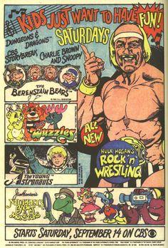 80's Saturday morning cartoons