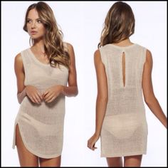 38eba4d917c65 Sexy Hollow Crochet Swimwear Cover Up Beach Dress. Fit  Fits smaller than  usual. Please check this store s sizing info