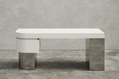 Joseph Dirand, architect based in Paris Table Furniture, Modern Furniture, Furniture Design, Plywood Furniture, Chair Design, Before After Furniture, Joseph Dirand, Shed Decor, Modern Interior
