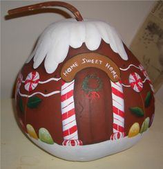Gingerbread House Gourd