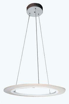 The  LED Pendant Light is a modern lighting fixture that stands out with it's futuristic, organic form and open design.   A clean, contemporary metal shade and diffuser suspended from a cord which is adjustable.  The Pendant light would add a contemporary touch to any modern space  The fixture would make a stylish addition to any living room, dining room and is suitable for office  worktable use. Size: D 600mm HEIGHT ADJUSTABLE  Type of Lamp : LED STRIP