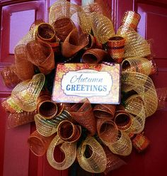 Think Fall - Autumn Greetings Wreath by Welcome Home Wreath $25.00