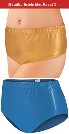 Metallic Briefs Met Royal Y Large. 80% Nylon / 20% Spandex metallic briefs Elastic waist Manufactured by Chassé® .