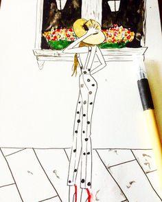 Watercolor Fashion Illustration  Vanessa Datorre