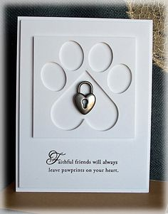Pawprints on Your Heart pet sympathy card by Doodledop - Cards and Paper Crafts at Splitcoaststampers