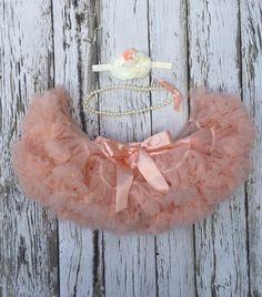 Petti Skirt. Peach petti skirt. Cake smash outfit. Ruffle skirt. Baby girl photo prop. Peach tutu skirt. Baby tutu. by KadeesKloset on Etsy https://www.etsy.com/listing/480544363/petti-skirt-peach-petti-skirt-cake-smash