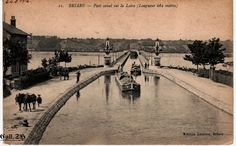 Briare aquaduct with animal traction