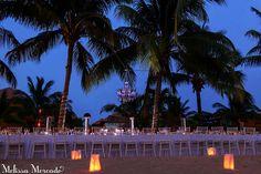 Stunning outdoor reception #SecretsAuraCozumel photo credit: melissa-mercado.com #Mexico #DestinationWedding