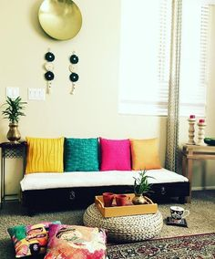 ruang tamu simple Indian Home Decor Bedroom Moroccan Decor Diy Home Decor Bedroom For Teens, Diy Home Decor Rustic, Cheap Home Decor, Bedroom Decor, Home Decoration, Indian Decoration, Decor Room, Room Decorations, Bedroom Ideas