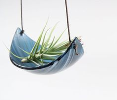 Air Plant Hammock   this would be great for a candle!