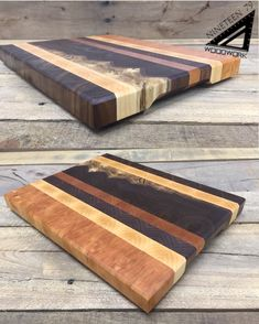 Brilliant character in this end grain cutting board. Cherry, maple, & walnut w/ sapping make up this beautiful board. This and much more @ 1979woodwork.com