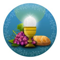 This religious sticker features a chalice with communion, grapes and a loaf of bread. This is a great way to seal gifts for holy sacraments etc. Enjoy using your new Religious Communion Grapes and Bread Classic Round Stickers! Catholic Communion, Première Communion, Communion Gifts, First Holy Communion, Catholic Sacraments, Jesus Painting, Eucharist, Blessed Mother, Round Stickers
