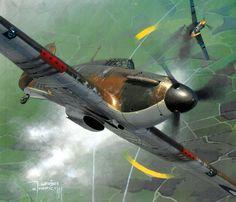 Polish Battle of Britain Hurricane Mk I, by Jarosław Wróbel