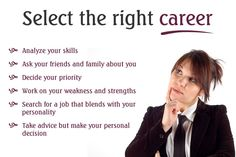 Select the right career