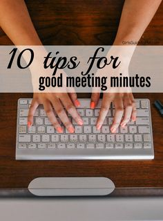 Minutes help with communication; they ensure people have a common understanding of what the meeting was about and serve as a record of actions. Write better minutes with these tips.