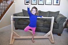 DIY kids ballet bar