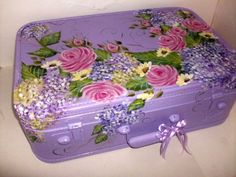 rose and hydrangea luggage