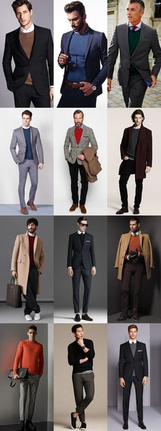 Men's Knits For 2014 Autumn/Winter : The Classic Round Neck Jumper Smart Styling Lookbook Inspiration