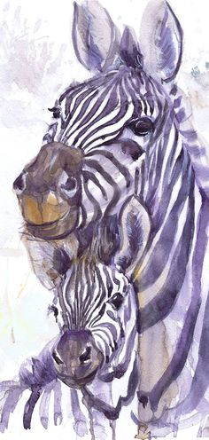 Zebra art, watercolor print, zebra with a toddler, zebra painting, zebra baby, nursery decor, mothers day gift, children art, Illustration  Zebra with a toddler high quality fine art print of my original watercolor painting. It is the work of a watercolor series Portraits of the Heart   Size paper: 21 cm x 29,7 cm, 8 1/4 x 11.5/8, A4.(with white borders) - 18.00 $  fit in frames found in big shops 8x10(20cmx25cm) - leaving extra for matting - US  8x12(20cmx30cm) - leaving extra for ...