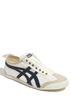 Onitsuka Tiger Mexico 66 Slip-On in Birch/Navy. $69.95