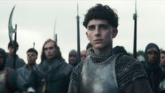 Chalamet stars as Henry V in David Michôd's adaptation of Shakespeare's work, with Joel Edgerton as Falstaff. As the Dauphin, Robert Pattinson steals the show. The King is streaming on Netflix now. Films On Netflix, Netflix Movies To Watch, Netflix Dramas, Netflix Streaming, The King Timothee Chalamet, King Henry V, Sean Harris, Joel Edgerton, Robert Pattinson