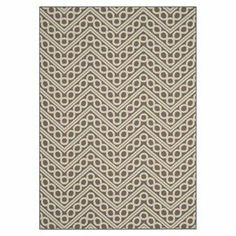 Loomed indoor/outdoor rug with a patterned chevron motif. Made in Turkey.   Product: RugConstruction Material: PolypropyleneColor: Dark grey and ivoryFeatures:  Made in TurkeyPower-loomedSuitable for indoor and outdoor use  Note: Please be aware that actual colors may vary from those shown on your screen. Accent rugs may also not show the entire pattern that the corresponding area rugs have.Cleaning and Care: Professional cleaning recommended