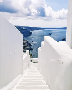 I'm thinking with all the white paint or white washing, this could be Greece? ♡ Downhill.