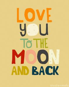 Typographic Print - 8x10 Illustration Print - Typography - Quote Poster - childrens room, love you to the moon, nursery art - I ALWAYS WILL