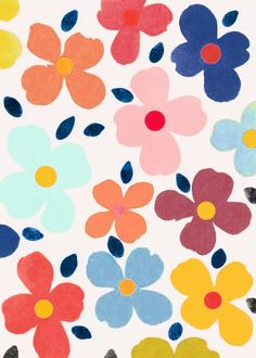 Ideas Flowers Painting Abstract Pattern Inspiration For 2019 Flower Pattern Design, Flower Patterns, Print Patterns, Pattern Print, Flower Background Wallpaper, Illustrations, Pattern Paper, Pattern Wallpaper, Abstract Pattern