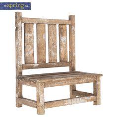 Wood Bench Plant Holder