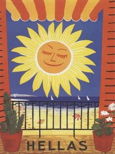 50 of the Most Beautiful Vintage Travel Posters of Greece - Greeker Than The Greeks Old Posters, Beach Posters, My Favorite Year, Amazing Street Art, Commercial Art, Greek Art, Travel Themes, Vintage Travel Posters, Greece Travel