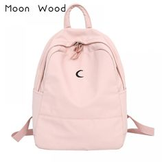 Brand Name: Moon woodMain Material: CanvasHandle/Strap Type: Soft HandleGender: WomenTechnics: JacquardBackpacks Type: SoftbackDecoration: NONECarrying System: Air Cushion BeltStyle: Preppy StyleModel Number: school backpack for girlsRain Cover: N. Cute Cheap Backpacks, Girl Backpacks, School Backpacks, Canvas Backpack, Laptop Backpack, Leather Backpack, School Bags For Girls, Shoulder Backpack, Pencil Bags