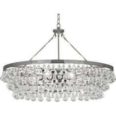 Robert Abbey Six Light Chandelier - Good quality.Product DetailsSix light chandelier from the Bling collectionHeight: inches Widt Chandelier Design, Round Chandelier, Large Chandeliers, Bronze Chandelier, Chandelier Lighting, Glass Chandelier, Dinning Room Chandelier, Ochre Lighting, Traditional Chandeliers