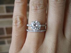 Tiffany's metro band. Novo engagement ring  Love love love