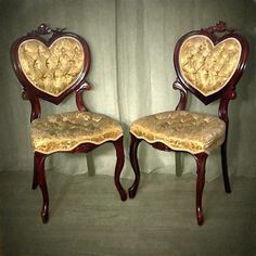 Image result for heart back antique chair