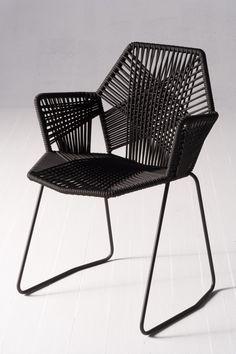 Garden stol svart vit sultan altan pinterest svart - Silla acapulco ikea ...