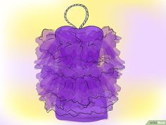 How to Make a Loofah Costume. If you're looking for a fun, creative costume to wear to your next Halloween party, consider dressing up as a shower loofah. All you need is a little colored tulle and elastic to complete the look. Loofah Halloween Costume, Halloween Kostüm, Holidays Halloween, Halloween Decorations, Halloween Makeup, Christmas Tree Outfit, Ugly Christmas Sweater, Creative Costumes, Diy Costumes