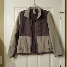 Green and gray fleece jacket Super warm fleece. Great quality. Jackets & Coats