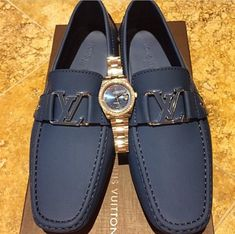 Louis Vuitton...Blue Loafers