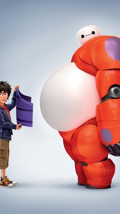 Big Hero 6 Phone Wallpaper - Fondos de pantalla - Best of Wallpapers for Andriod and ios Disney Films, Disney And Dreamworks, Disney Cartoons, Disney Art, Punk Disney, Disney Characters, Big Hero Baymax, Hiro Big Hero 6, Imprimibles Toy Story
