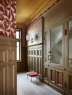 Oslo, Plum Room, Interior Paint, Interior Design, Color Interior, Traditional Paint, Yellow Ceiling, Paint Brands, Victorian Homes