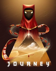 Journey fan art<<<< I LOVE THE DETAIL AND SHADING AND YOU CAN SEE WHAT THE GAME IS LIKE TOO