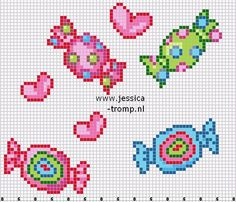 Candy cross stitch.