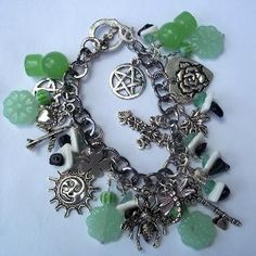 Pentacle Charm Bracelet Opportunity Prosperity Luck by Larissa Wicca Pagan