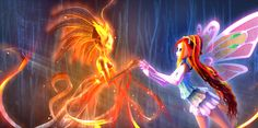Bloom and Daphne from Winx Club. I will always have a soft spot for this cartoon, no matter how old I get!
